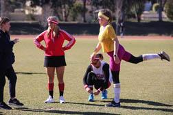 Girl kicking